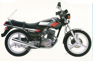 CB125TDJ UNITED KINGDOM 1988 NH1 CB 125 TWIN