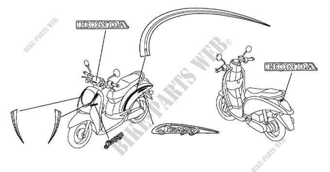 ACDSCB JF HONDA Motorcycle SCOOPY FI INDONESIA - Honda scoopy wiring diagram