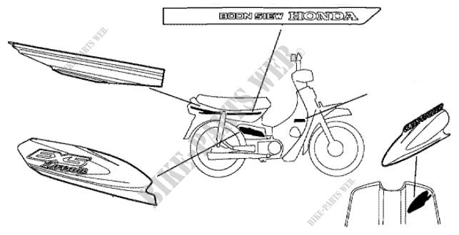 c1004_ma gn5 honda motorcycle ex5 dream 100, kick start 100 2004, Wiring diagram