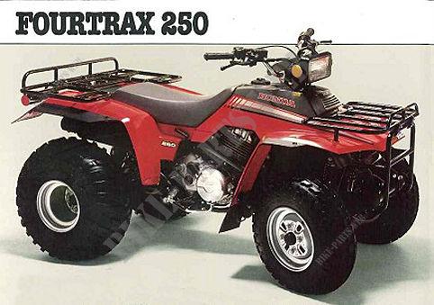 TRX250G TE060 HONDA Motorcycle TRX FOURTRAX 250 250 1986 CANADA