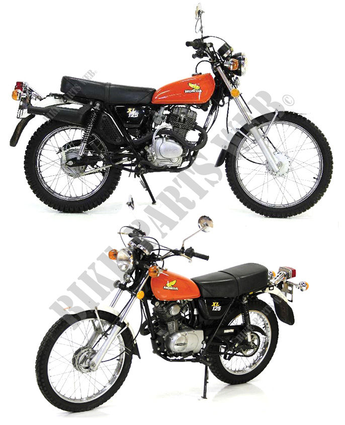 xl125k2 xl125 honda motorcycle xl 125 125 1976 europe. Black Bedroom Furniture Sets. Home Design Ideas