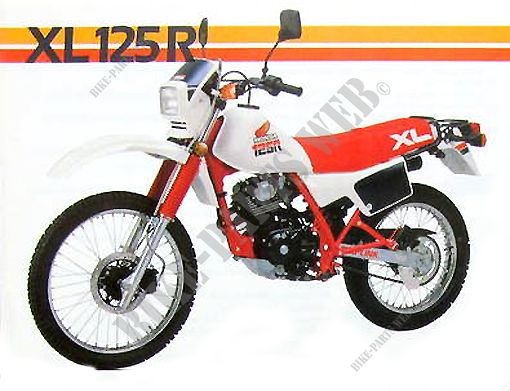 xl125rf jd04 honda motorcycle xlr 125 125 1985 france. Black Bedroom Furniture Sets. Home Design Ideas