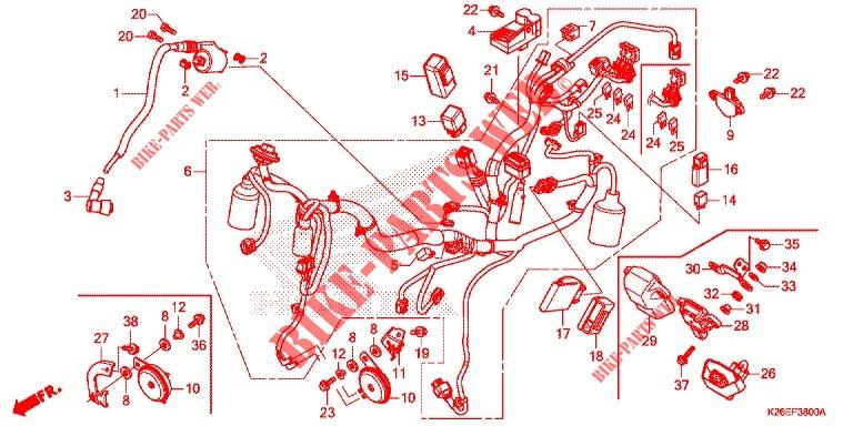 Wire Harness  Battery For Honda Msx 125 2018   Honda