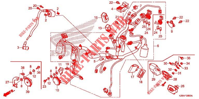 Wire Harness  Battery For Honda Grom 125 2018   Honda