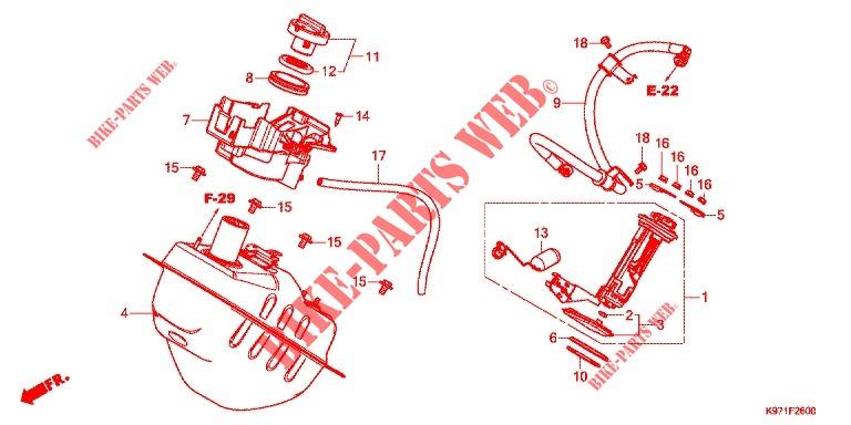 Fuel Tank For Honda Pcx 150 2018   Honda Motorcycles  U0026 Atvs Genuine Spare Parts Catalog