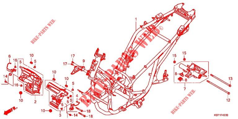 Frame For Honda Pcx 150 Abs 2019   Honda Motorcycles  U0026 Atvs Genuine Spare Parts Catalog