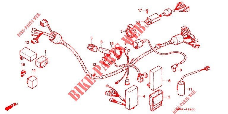 WIRE HARNESS IGNITION COIL for Honda CRM 80 1998 # HONDA ... on