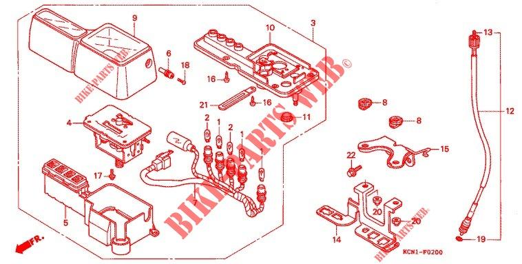 HEADLIGHT SDOMETER (2) for Honda XLR 125 1993 # HONDA ... on honda 450r wiring diagram, honda elite 80 wiring diagram, honda atv wiring diagram, honda 185s wiring diagram, honda c 200 wiring diagram,