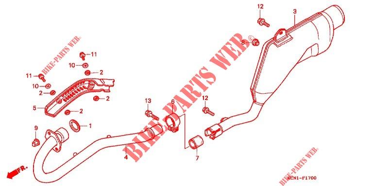 EXHAUST LER (2) for Honda XLR 125 1996 # HONDA ... on honda 450r wiring diagram, honda elite 80 wiring diagram, honda atv wiring diagram, honda 185s wiring diagram, honda c 200 wiring diagram,