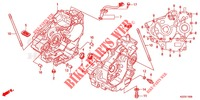 CRANKCASE   for Honda CRF 250 L ROUGE 2013