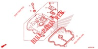 CYLINDER HEAD COVER   for Honda CRF 250 L ROUGE 2013