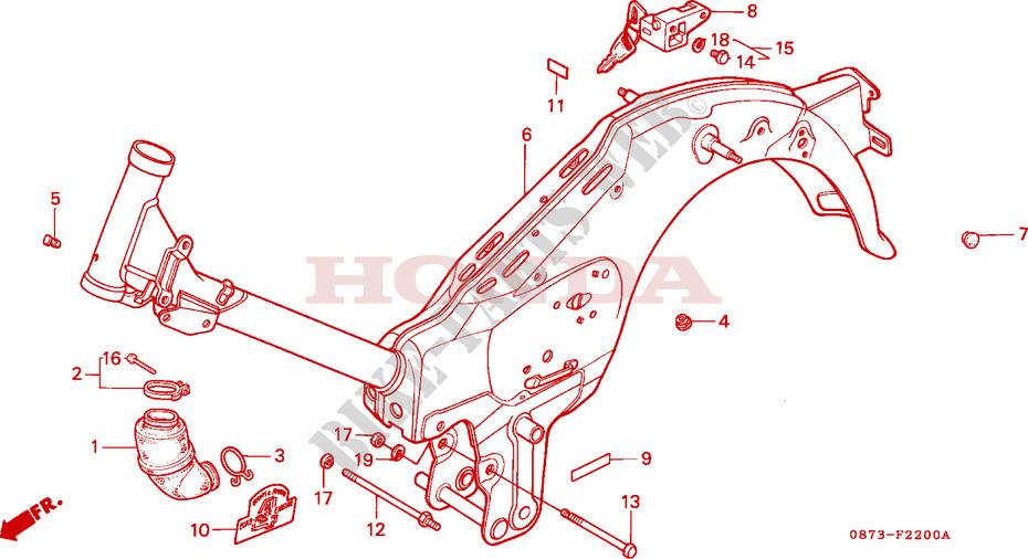 FRAME BODY Frame C50Z2 1977 C50 50 MOTO Honda motorcycle # HONDA ...