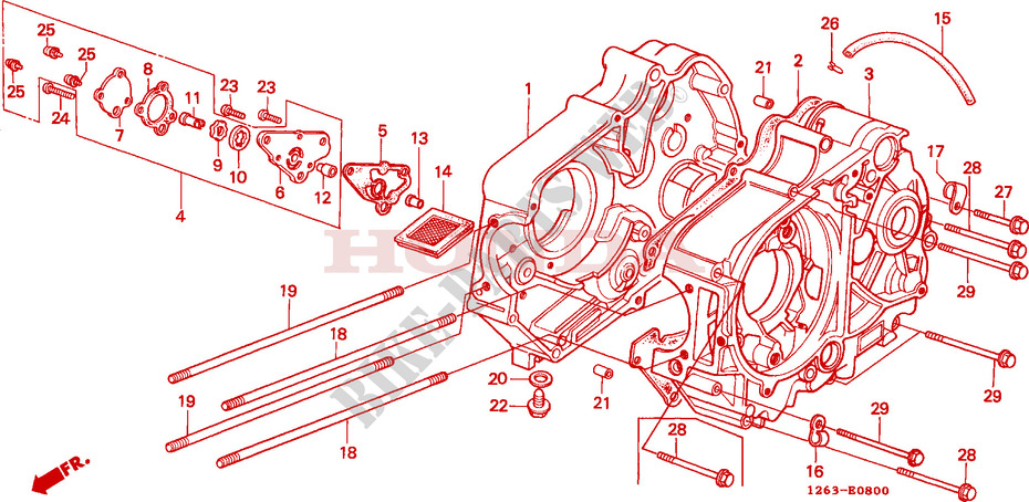 Crankcase Oil Pump For Honda St 70 Dax 1984   Honda