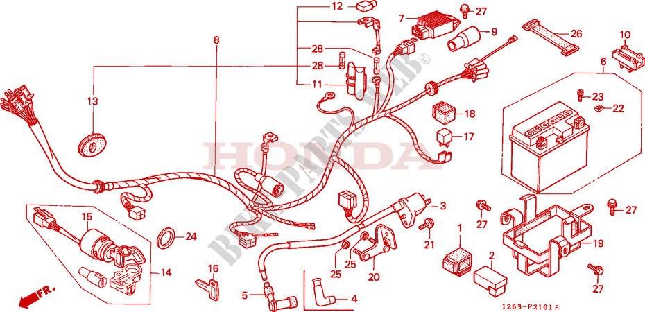 Wire Harness Ignition Coil Battery For Honda Dax 50 1988   Honda Motorcycles  U0026 Atvs Genuine