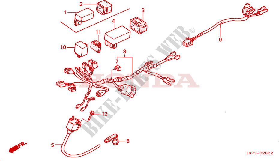 WIRE HARNESS IGNITION COIL (3) for Honda MT 50 1993 # HONDA Motorcycles &  ATVS Genuine Spare Parts CatalogBike Parts-Honda