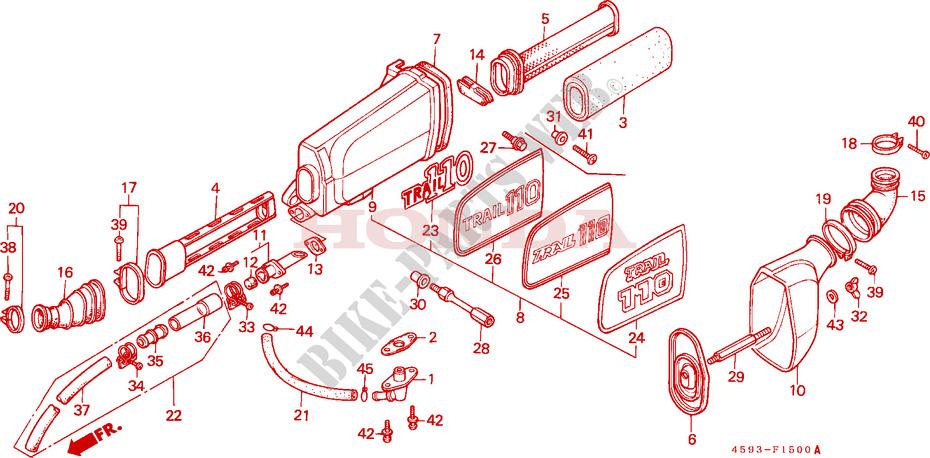 Air Cleaner  1  For Honda Ct 110 Trail Ub 1996   Honda Motorcycles  U0026 Atvs Genuine Spare Parts