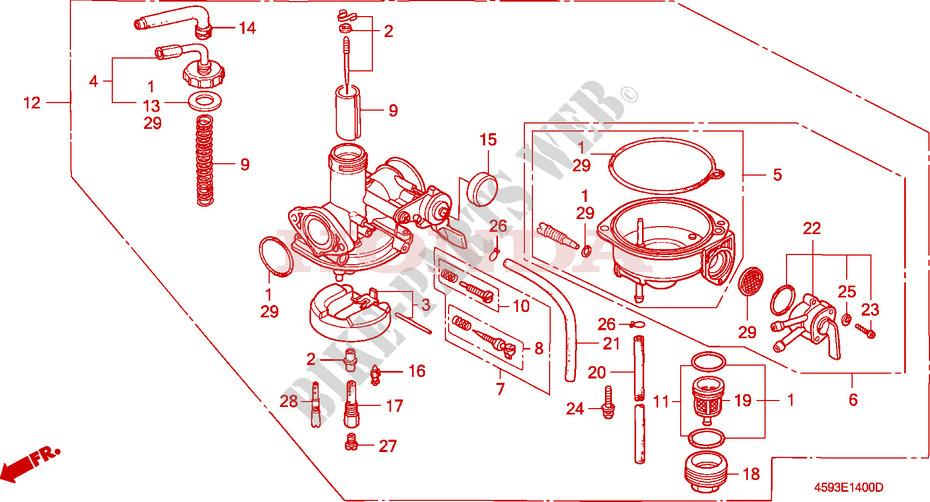 CARBURETOR Engine CT110P 1993 CT 110 MOTO Honda motorcycle # HONDA ...