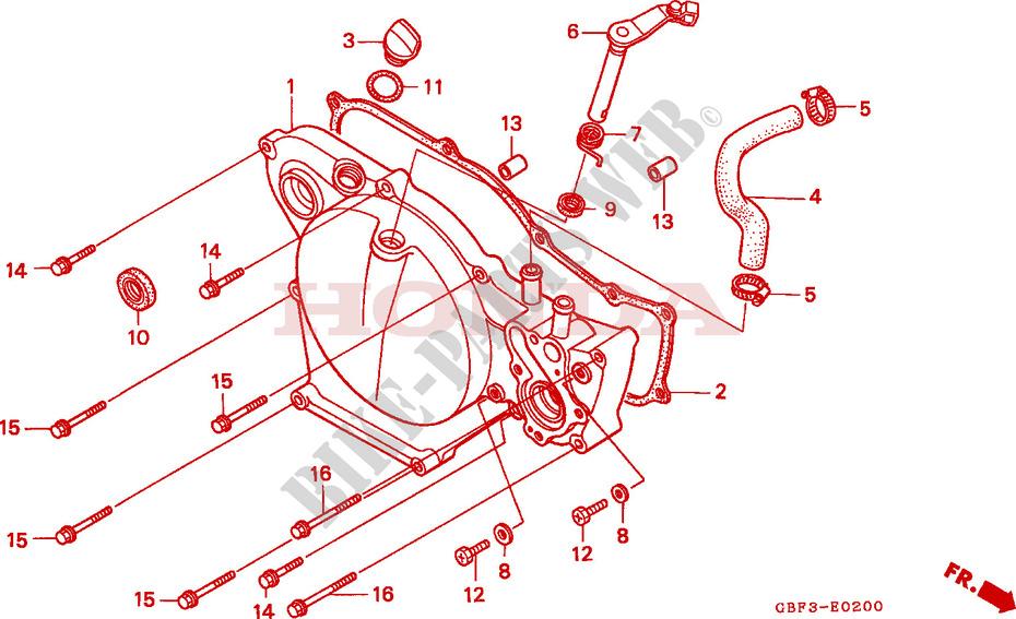 RIGHT CRANKCASE COVER for Honda CR 80 R 1999 # HONDA Motorcycles & ATVS  Genuine Spare Parts CatalogBike Parts-Honda