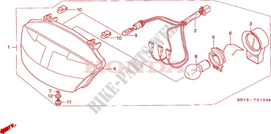 Headlight For Honda Scoopy 50 2000   Honda Motorcycles