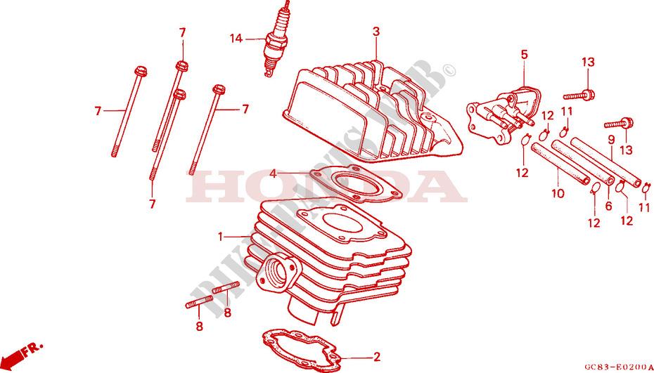 Cylinder Head For Honda Lead 50 Kumamoto Factory 1990