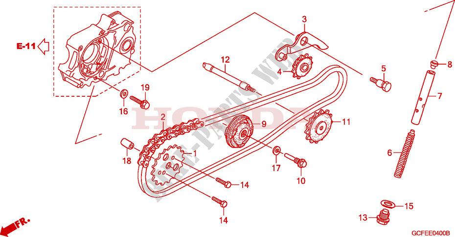 Cam Chain  Tensioner For Honda Crf 70 2009   Honda Motorcycles  U0026 Atvs Genuine Spare Parts Catalog