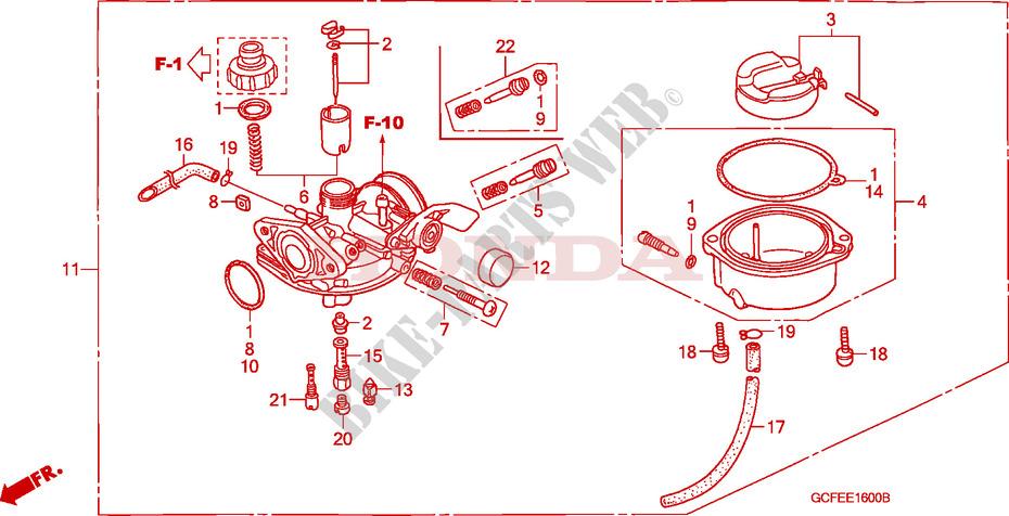 Carburetor For Honda Crf 70 2004   Honda Motorcycles  U0026 Atvs Genuine Spare Parts Catalog