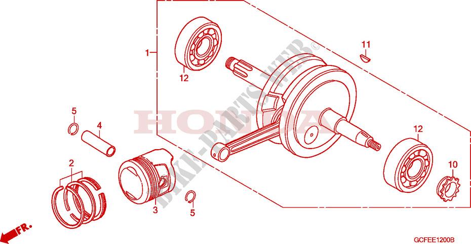 Crankshaft For Honda Crf 70 2007   Honda Motorcycles  U0026 Atvs Genuine Spare Parts Catalog