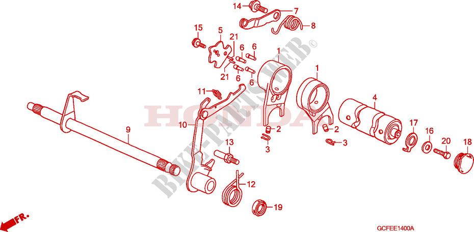 Gearshift Drum For Honda Crf 70 2007   Honda Motorcycles  U0026 Atvs Genuine Spare Parts Catalog