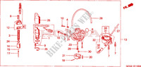 CARBURETOR Honda motorcycle microfiche diagram SGX50X 1999 SKY 50 50TH