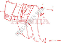 LEG SHIELD Honda motorcycle microfiche diagram SGX50X 1999 SKY 50 50TH