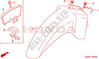 FRONT FENDER Honda motorcycle microfiche diagram SGX50X 1999 SKY 50 50TH