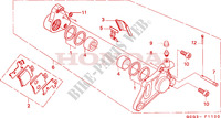 FRONT BRAKE CALIPER Honda motorcycle microfiche diagram SGX50X 1999 SKY 50 50TH