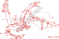 FRAME BODY Honda motorcycle microfiche diagram SGX50X 1999 SKY 50 50TH