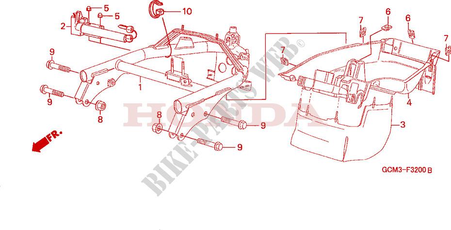 Rear Fender For Honda X8r 50 Cross Sport 1998   Honda Motorcycles  U0026 Atvs Genuine Spare Parts Catalog
