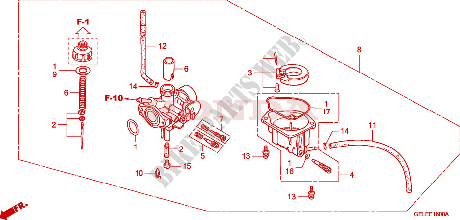 carburetor crf 50 crf50f5 2005 europe crf50f5 honda rh bike parts honda com honda crf50 carburetor diagram 2006 honda crf50 carb adjustment