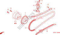 CAM CHAIN/TENSIONER Engine 50 honda-motorcycle ZOOMER 2009 E__0400