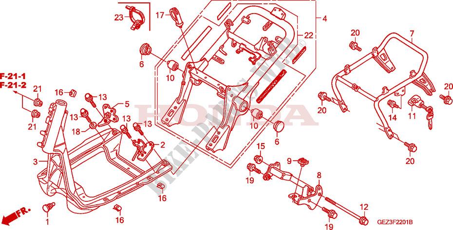 FRAME BODY NPS505 6 8 9 Frame NPS509 2009 RUCKUS 50 SCOOTER Honda ...