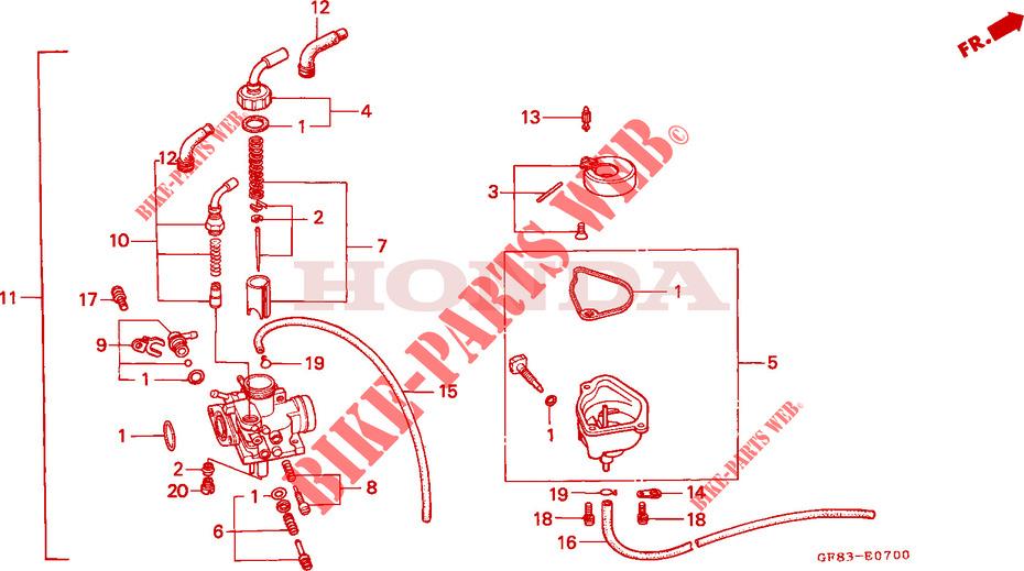 carburetor engine qr50d 1983 other models 50 moto honda motorcycle rh bike parts honda com honda z50 carburetor diagram honda elite 50 carb diagram