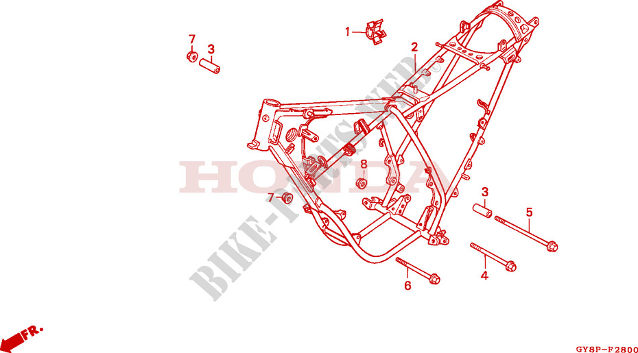 FRAME BODY Frame CRM50RN 1992 Other Models 50 MOTO Honda motorcycle ...