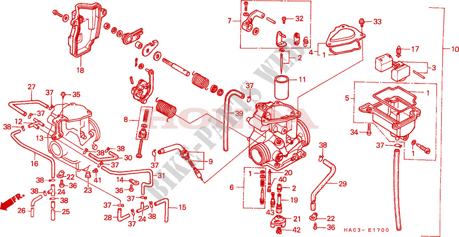 Remarkable Carburetor Engine Atc250Esf 1985 Atc 250 Atv Honda Motorcycle Wiring Digital Resources Funapmognl