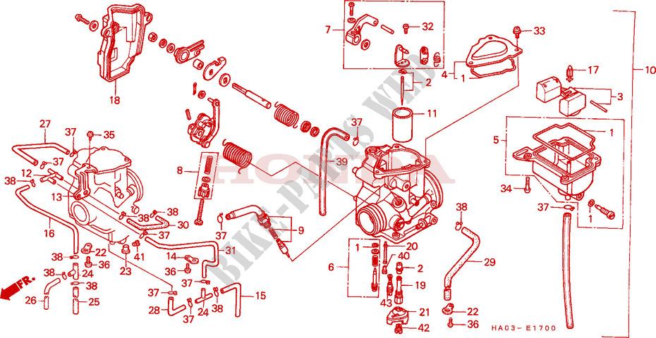 honda atv 250 atc 1986 atc250esg engine carburetor