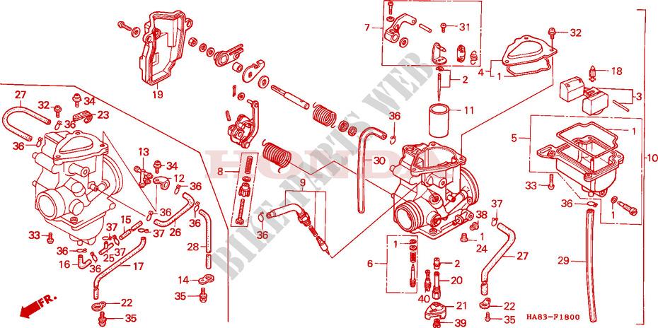 Carburetor For Honda Trx Fourtrax 250 1986   Honda
