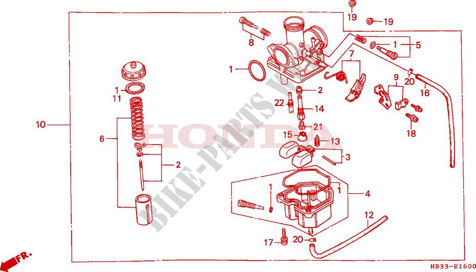 carburetor for honda fourtrax 200 sx 1986 honda motorcycles \u0026 atvs Honda Electrical Diagram
