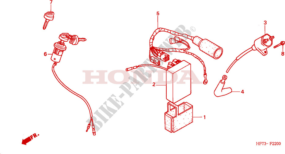 Wire Harness Ignition Coil For Honda Fourtrax 90 2001   Honda Motorcycles  U0026 Atvs Genuine Spare