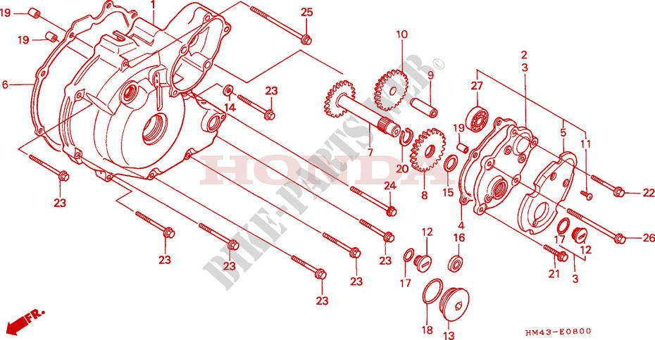 left crankcase cover engine trx300fww 1998 fourtrax 300 atv honda rh bike parts honda com
