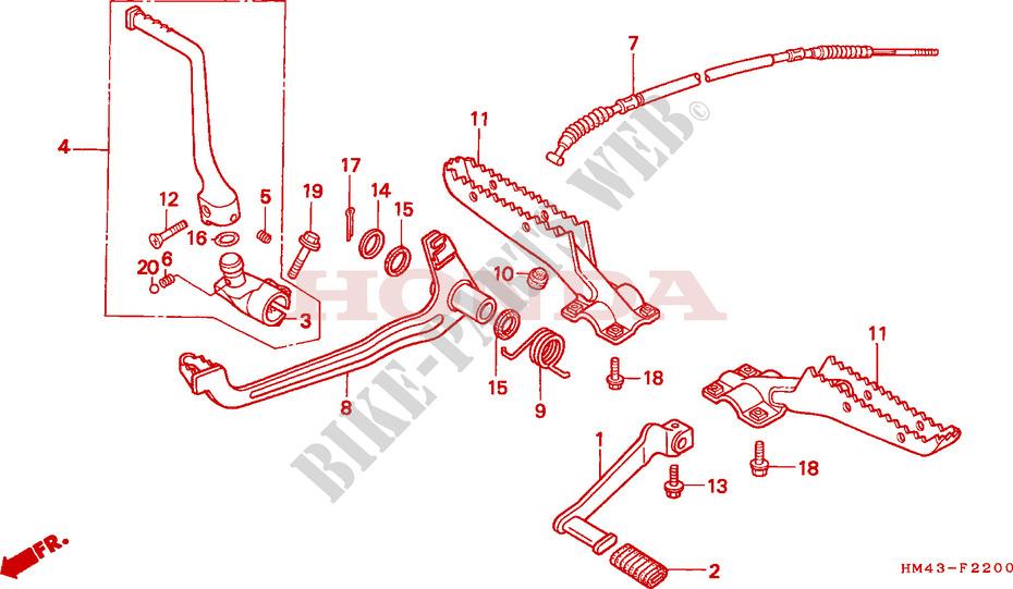 Honda ATV 300 FOURTRAX 1996 TRX300FWT Frame STEP/PEDAL