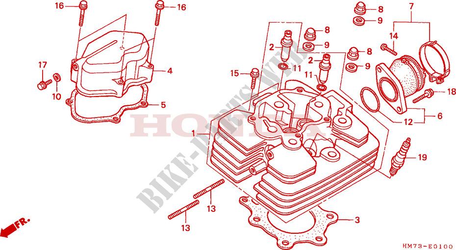 CYLINDER HEAD for    Honda    TRX    400    FOURTRAX    FOREMAN       4X4    2000