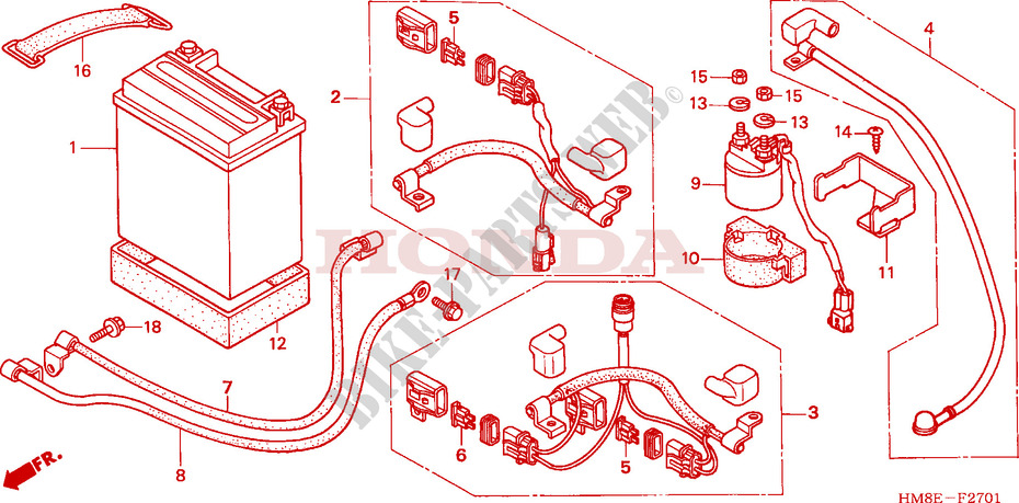 Battery   U0026 39 05  For Honda Fourtrax 250 Recon Electric Shift