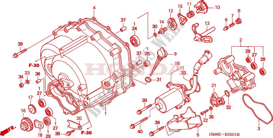 Front Crankcase Cover  Trx250te  For Honda Fourtrax 250 Recon Electric Shift 2002   Honda