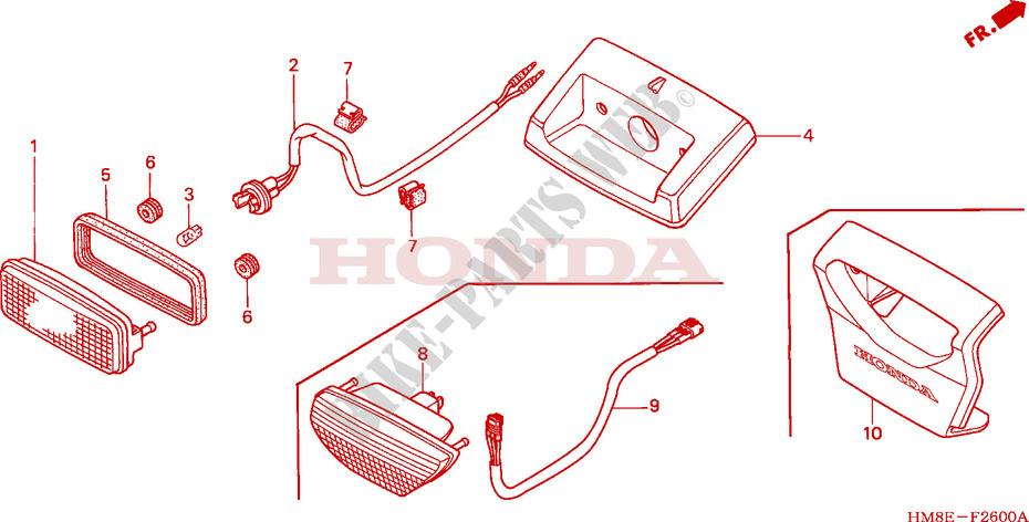 Taillight For Honda Fourtrax 250 Recon Standard 2002